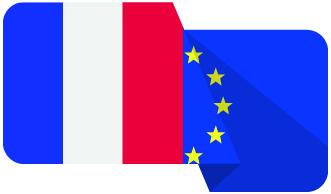 drapeaux francais et europeen